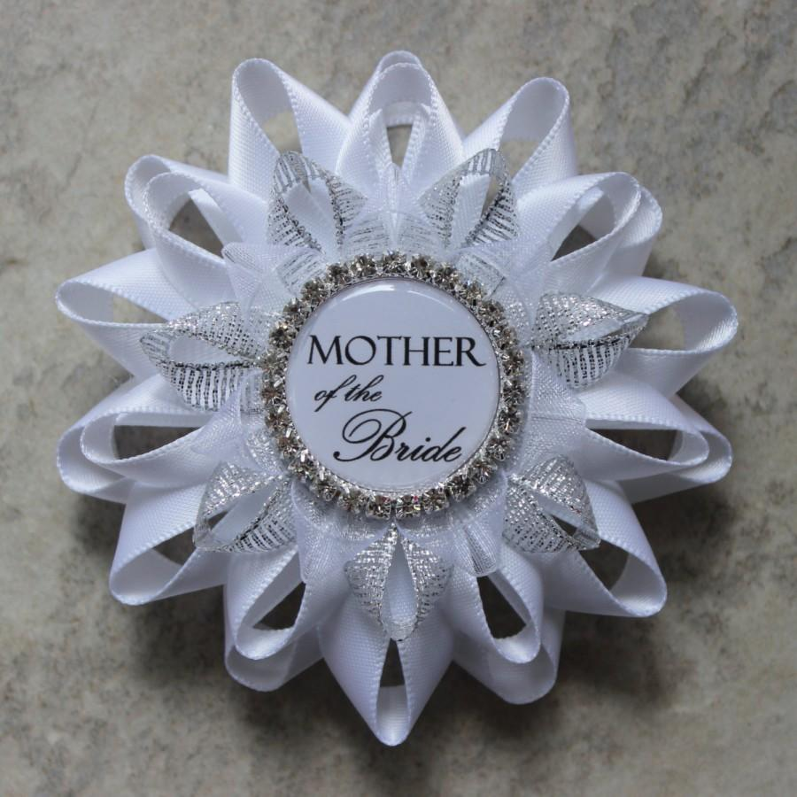 Hochzeit - Mother of the Bride Gift, Mother of the Groom Gift, Bridal Shower Decor, New Bride Corsage, Bride to Be Pin, Bride to Be Sign, Stepmother