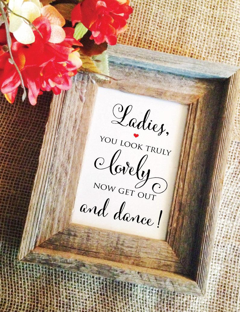 Mariage - Wedding Bathroom Sign for Ladies (Frame NOT included)