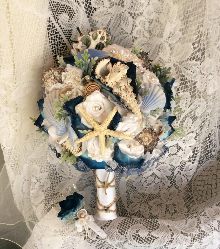 Beach Wedding Bouquet Beach Wedding Flowers Bluewhite Beach Flower