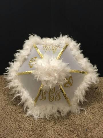 Hochzeit - Second line Umbrella Bride, Wedding Parasol, New Orleans Destination  BLING Second line parade, Monogram Initials Parasol