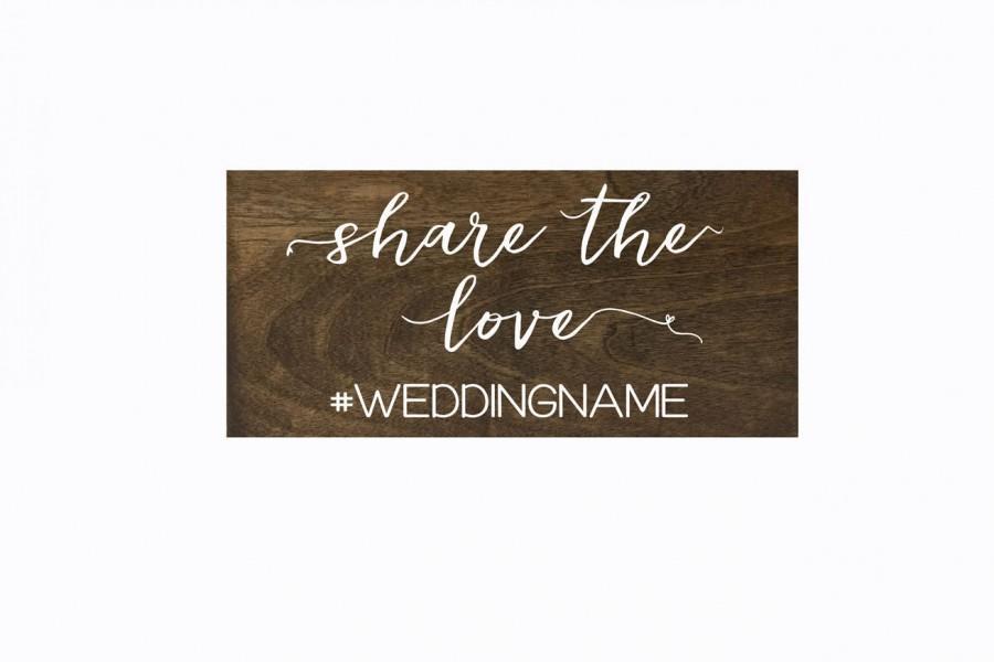 Hochzeit - Wedding Hashtag Sign, Instagram, Facebook, Twitter, Rustic Wooden Wedding Sign, Social Media Sign