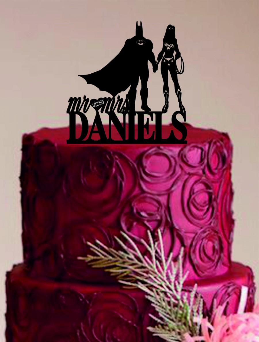 Batman Wedding Cake.Batman And Wonder Woman Cake Topper Bride And Groom Wedding Cake
