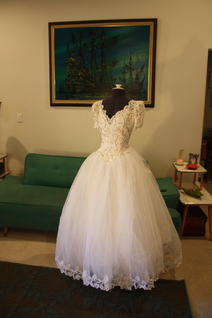 Wedding - Vintage House of Bianchi Wedding Dress Vintage Wedding Dress