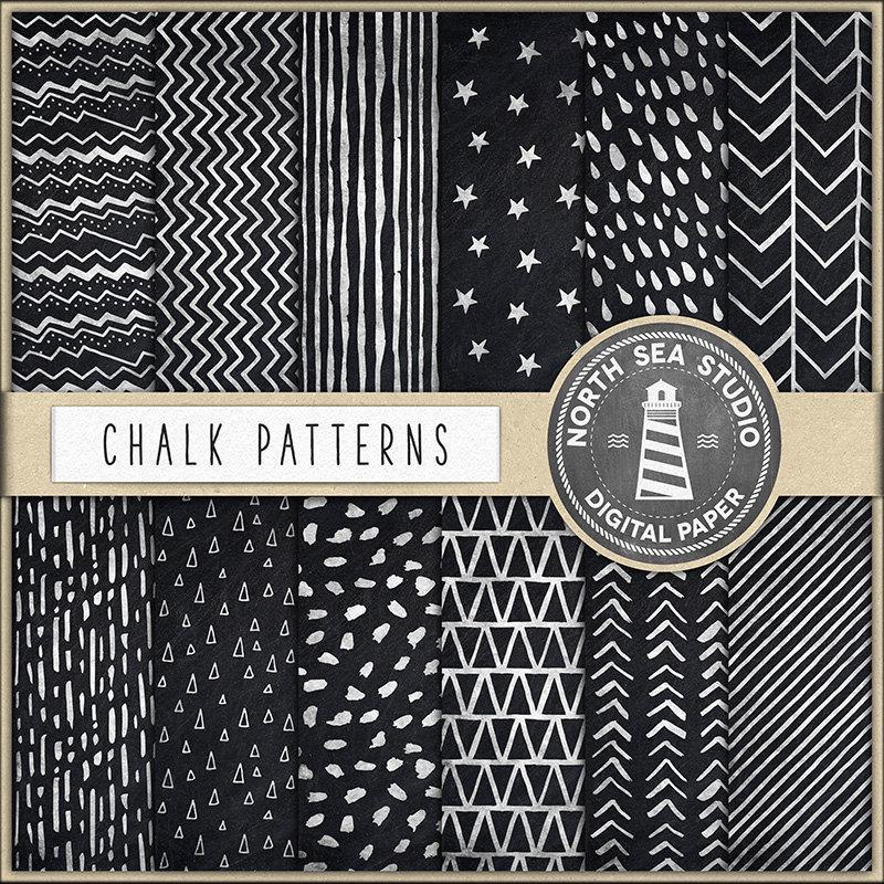 Mariage - Chalkboard Digital Paper