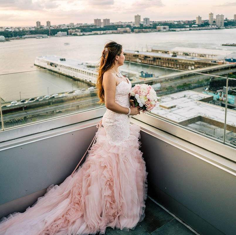 Wedding - Blush Mermaid Wedding Dress