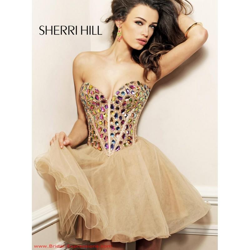 Wedding - Sherri Hill 1530 Short Jewled Homecoming Dress - Crazy Sale Bridal Dresses