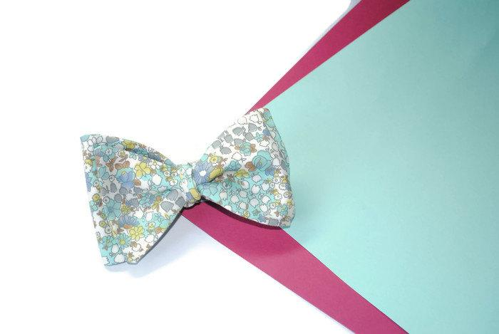 زفاف - Gifts for him Engagement gift Mint green floral bow tie Woodland wedding Anniversary gifts Groomsmen gifts ideas Gift for him Fiance gift - $10.07 USD