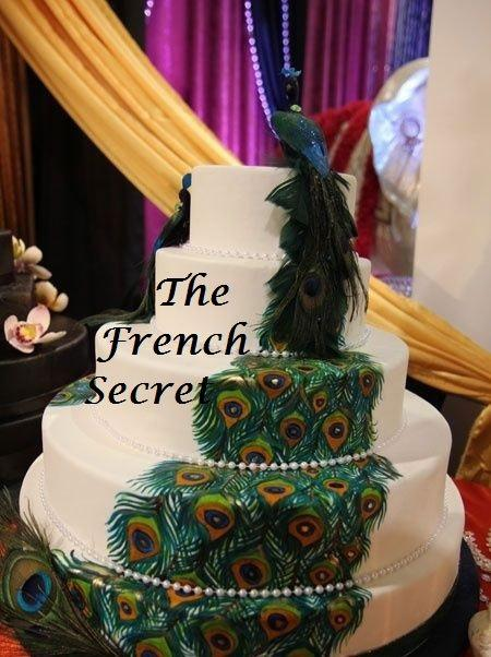 Mariage - Peacock Wedding Cake Topper 2 Centerpiece Decoration Love Bird Woodland Floral Zen Rustic Shabby Chic Victorian