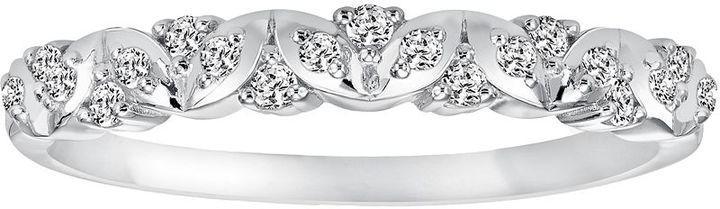 Hochzeit - Simply Vera Vera Wang 14k White Gold 1/7-ct. T.W. Diamond Wedding Ring