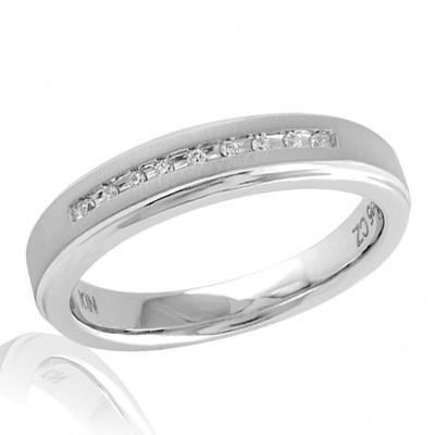 Hochzeit - Ladies' Diamond Accent Wedding Band in Sterling Silver