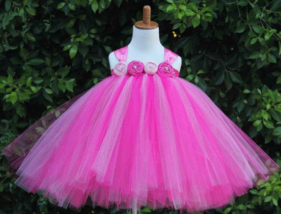 Mariage - Tutu Dress, Birthday Tutu Dress, Flower Girl Dress, Hot Pink Tutu Dress, Toddler Tutu Dress, Party Tutu Dress, Flower Girl Tutu Dress