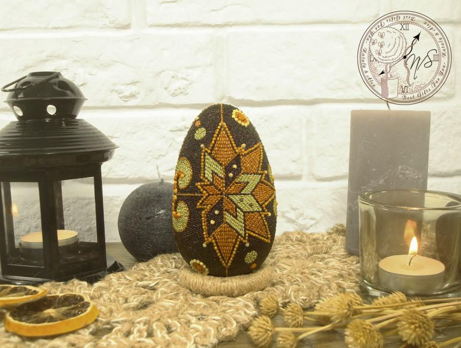 Wedding - Easter Egg decorated with seeds - Easter - Easter eggs - Easter decor - Egg