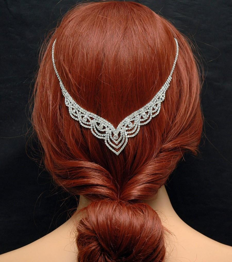 Mariage - Hair Jewelry Prom Hair Accessories FREE SHIPPING Wedding Headpiece Bridal Hair Vine Prom Headpiece, Boho Bridal Headband, 1920s Headpiece, Halo Crown - $30.00 USD