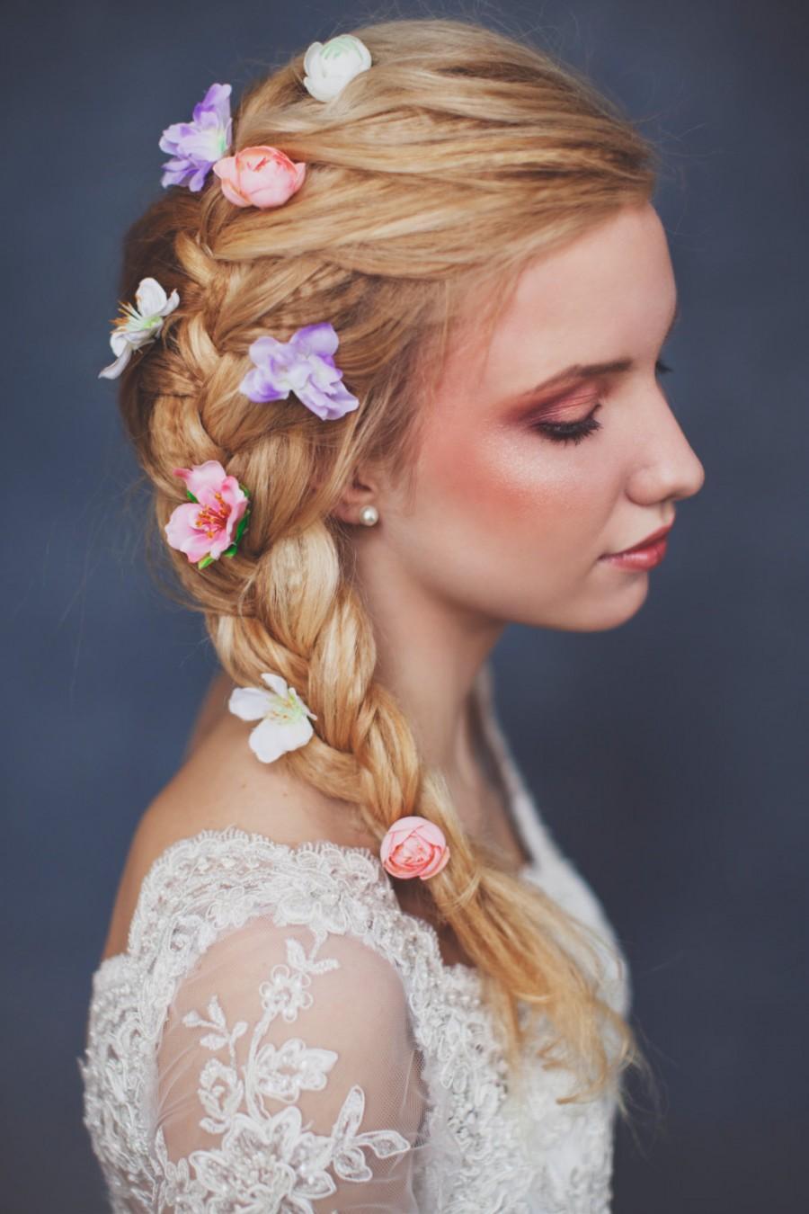 Hochzeit - flower hairpin, floral hairpin, wedding hairpin, bridal hairpin, flower hair pin, floral hair pin, bridal hair pin, wedding hair pin