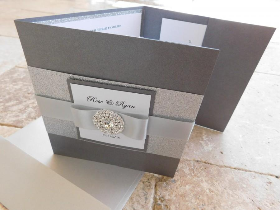 complete wedding invitation suite with 3 inserts and printed