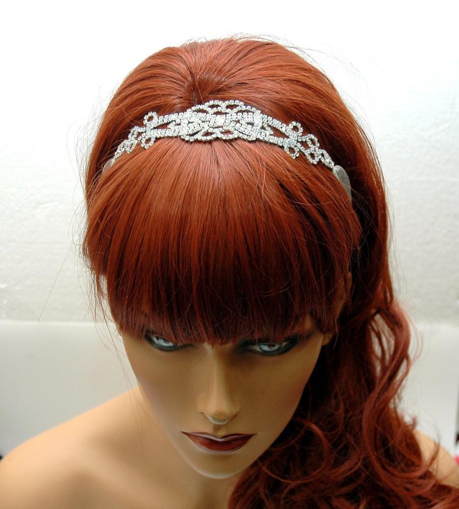 Mariage - Art Deco Wedding Headband, Hair Jewelry Bridal Headband, FREE SHIPPING Bridal Ribbon Headband, Wedding Hair Accessories, Organza Ribbon Headband - $30.00 USD