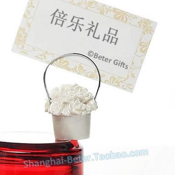 Düğün - Beter Gifts® Wedding Decoration Rose Basket Place card Holder SZ020