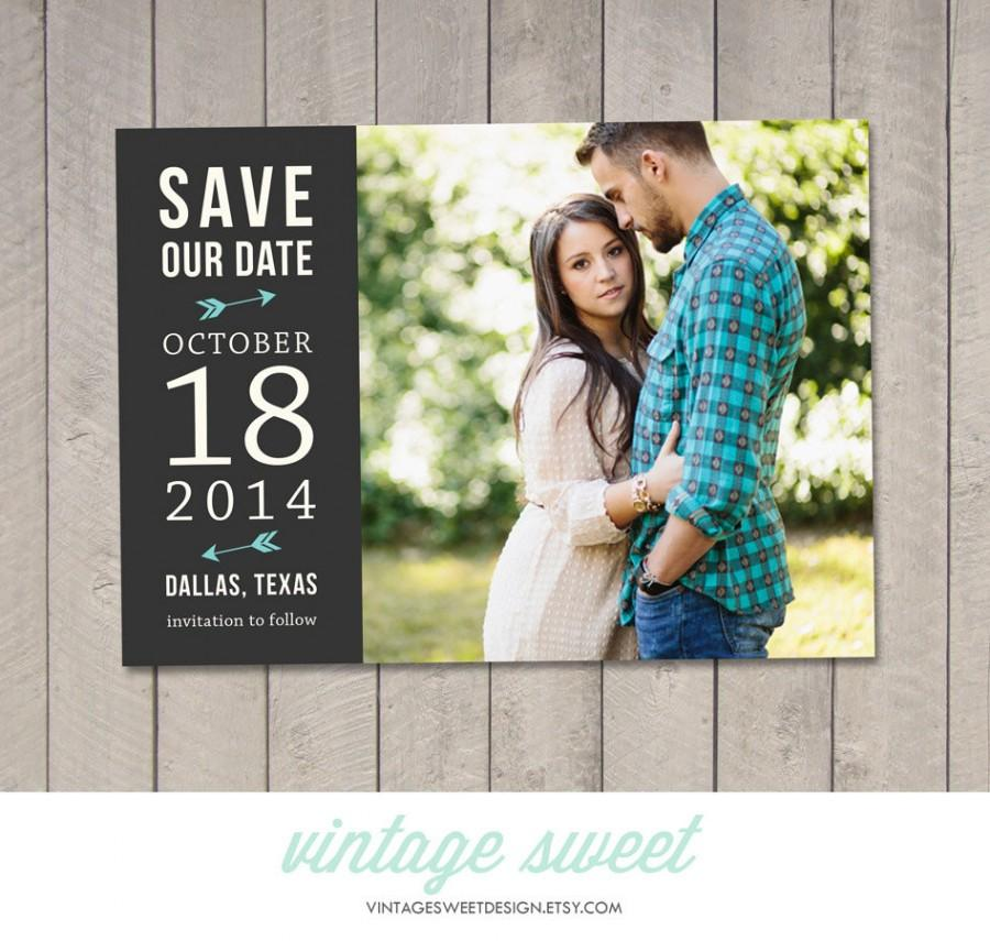 Wedding - Save the Date Card / Magnet (Printable) by Vintage Sweet