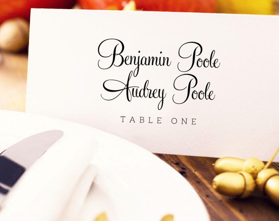 Wedding Place Card Template Editable Instant