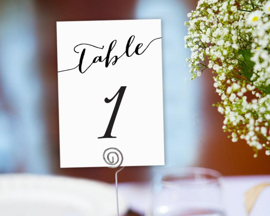 Wedding - Table Numbers Printable 1-40 Template In TWO Sizes, Wedding Table Seating Template, Table Number Cards, Wedding Printable,  - $6.50 USD