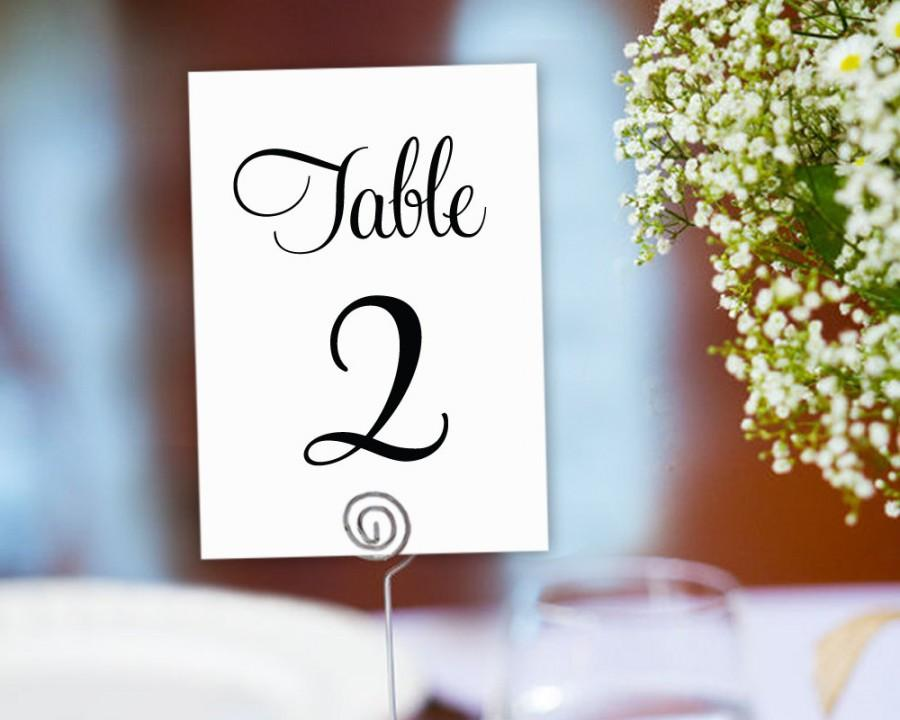 table numbers printable 1 40 template in two sizes wedding table