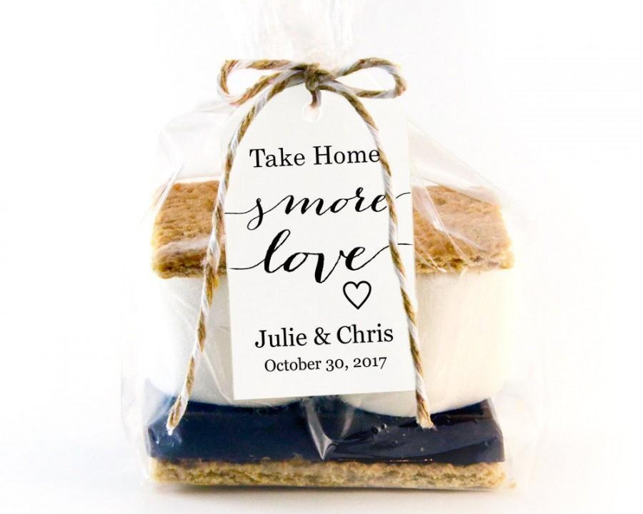 Hochzeit - Take Home S'MORE Love Tag Template, Wedding Favor Tag Template, DIY Editable, Printable Custom Favor Tags, Gift Tags,Wedding Tags,  - $6.50 USD