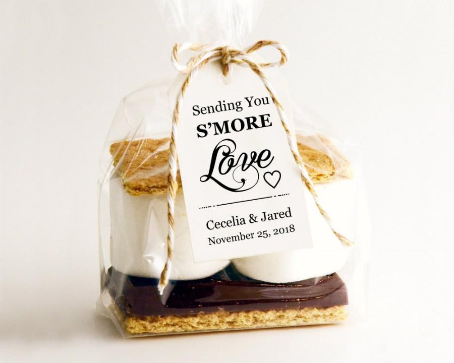 Wedding - Sending You S'MORE Love Tag Template, DIY Editable Download, Printable Custom Favor Tags, Gift Tags, Wedding Tags, Wedding Printables - $6.50 USD