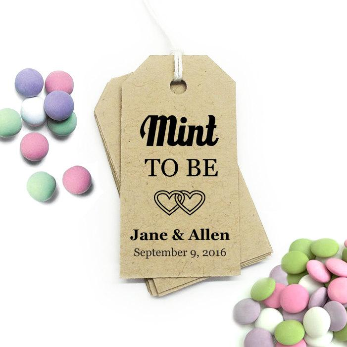 Mint To Be Tag Editable Template ~ Small ~ Diy Printable Favor