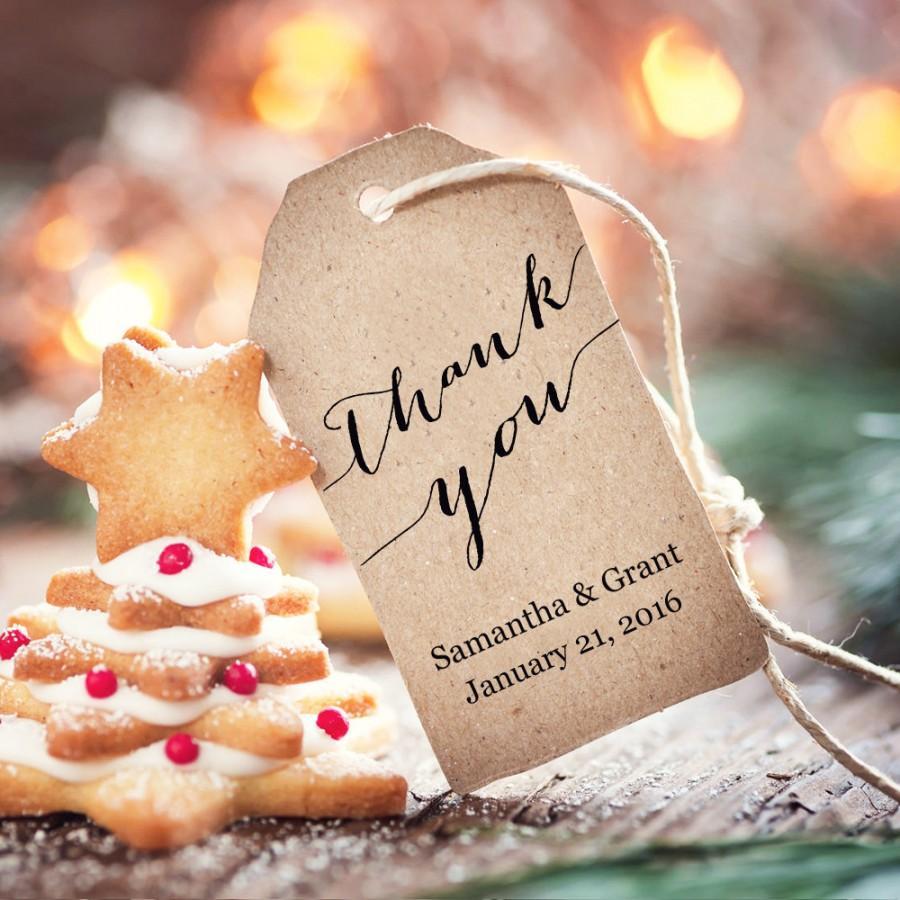 Wedding - Thank You Tags, Editable Wedding Favor Tags, INSTANT Download, Printable DIY Favor Tags, Wedding Gift Tags, Thank You Tags,  - $6.50 USD