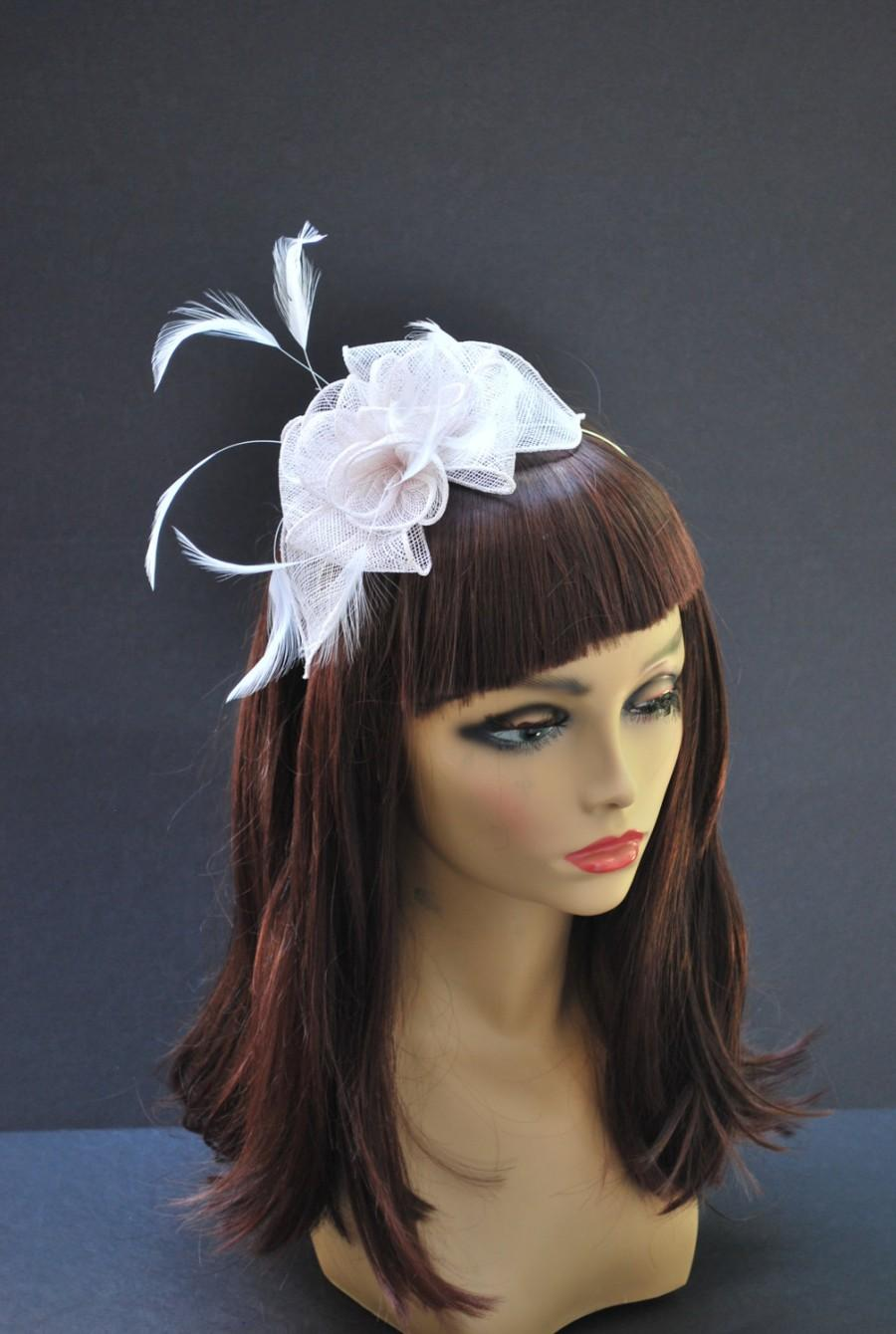 Mariage - White Fascinator, Tea Party Hat, Wedding Veil, Wedding  Fascinator, Derby Hat, Women's Fascinator, Cocktail Party Hat, Beidal Hat, Dress Hat