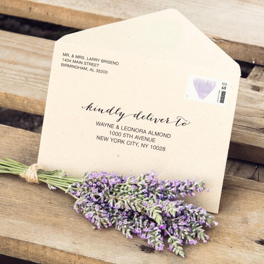 "Hochzeit - Wedding Envelope Templates Fit 3.5x5"" Cards, Editable Custom Envelope Templates, Response Card, Printable Wedding Envelope Template,  - $6.50 USD"