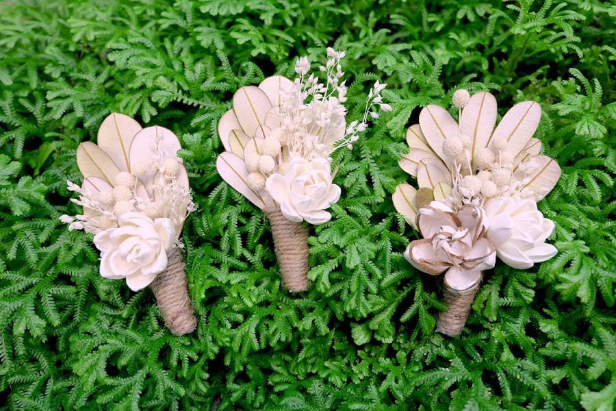 Mariage - Balsa Wood Flowers