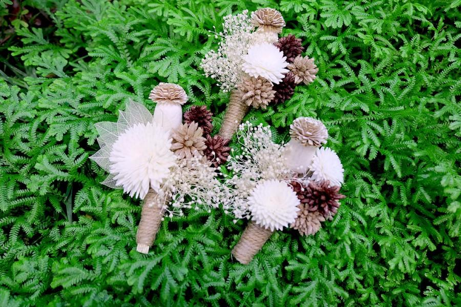 Mariage - Natural Cream Ivory Simply Gorgeous Wedding Boutonniere