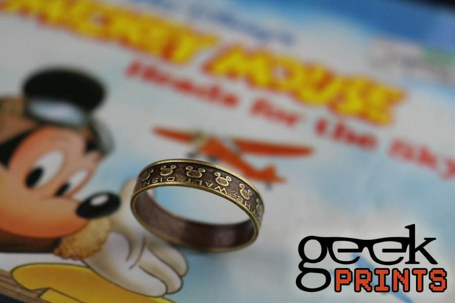 Wedding - SALE! Mickey Mouse Disney Brass Token Ring