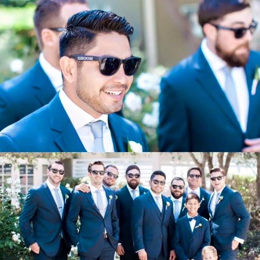 Mariage - Wedding Party Sunglasses Set of 6, Groom Sunglasses, Best Man Sunglasses, Groomsmen Sunglasses, Groomsman Gift, Wedding Sunglasses