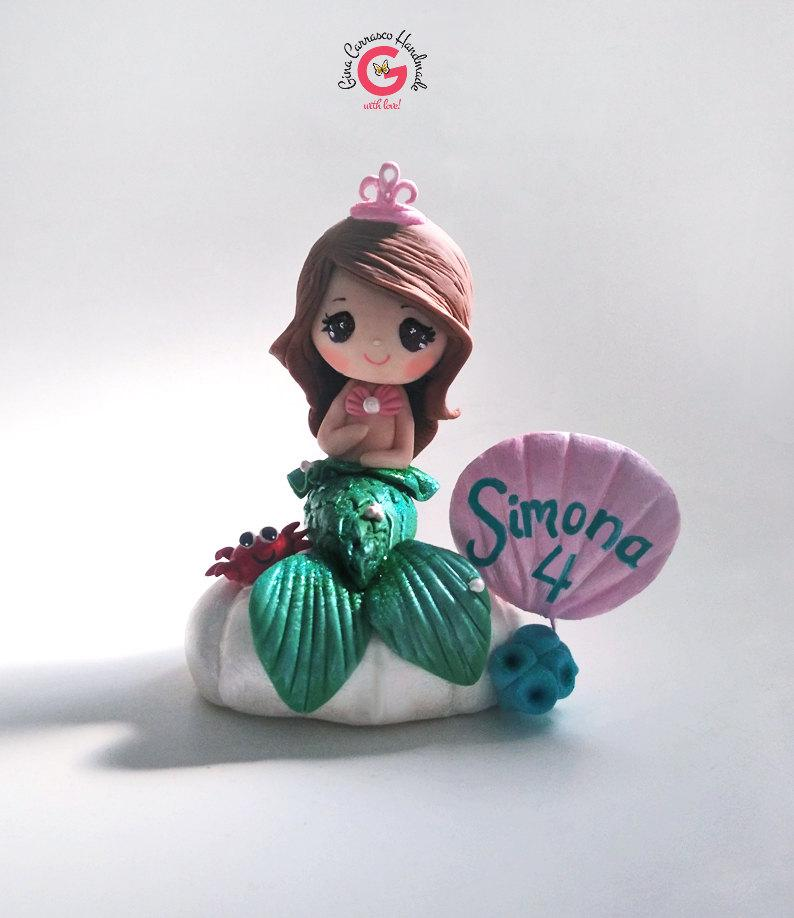 Mermaid Cake Topper Girls Cake Topper Mermaid Birthday Decor