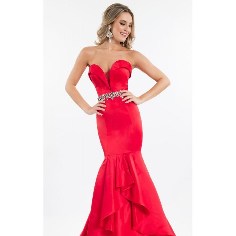 Wedding - Red Sweetheart Mermaid Gown by Rachel Allan Princess - Color Your Classy Wardrobe
