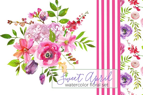 Wedding - Sweet April Watercolor Flowers