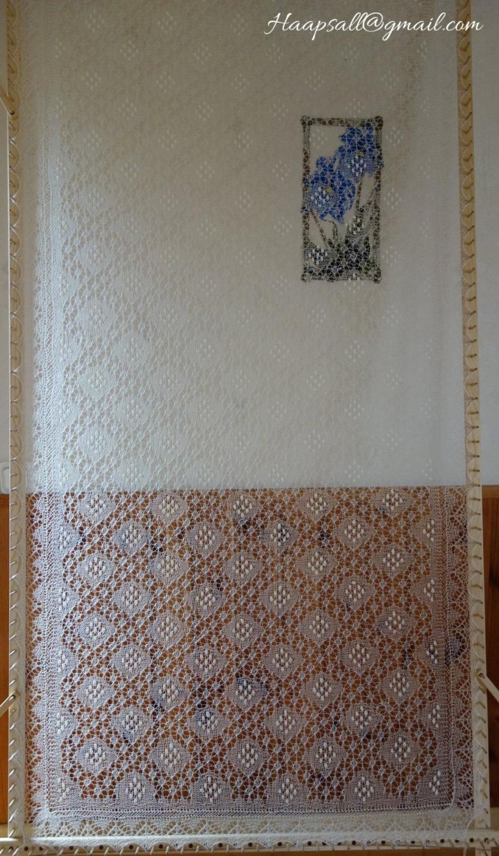 Mariage - Hand-knitted wedding shawl, Estonian lace, Haapsalu shawl, Sofia pattern - warm and lacy! FREE SHIPPING WORLDWIDE!