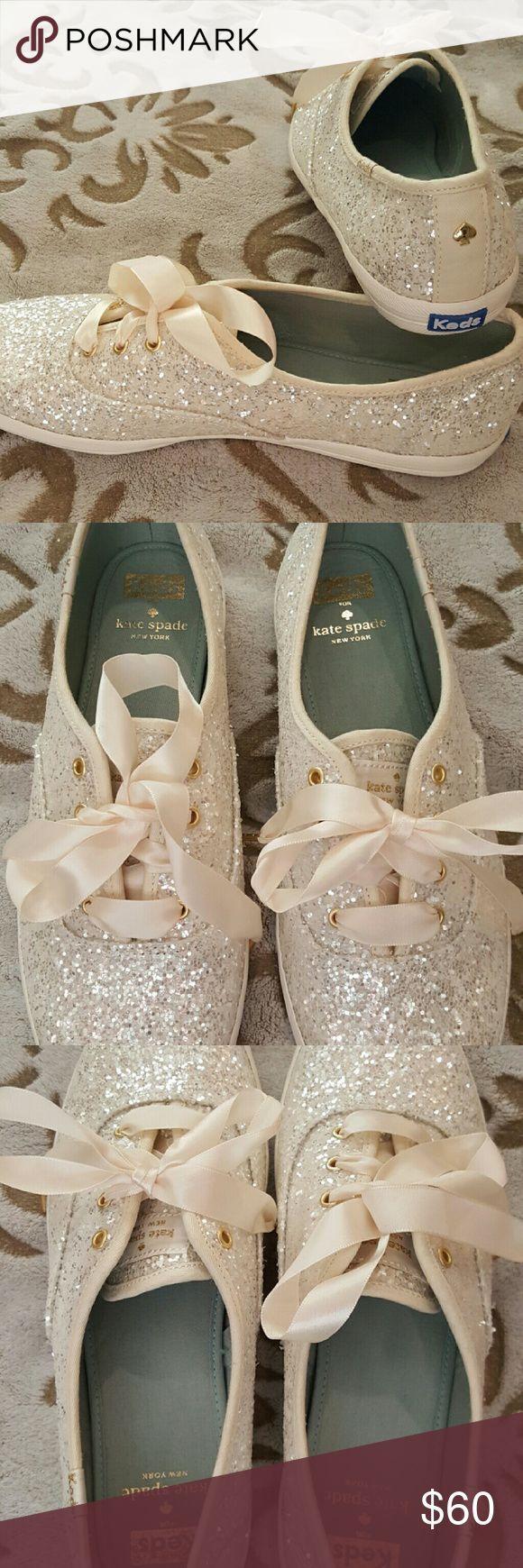 Boda - Kate Spade For Keds ~ White Wedding Glitter Keds