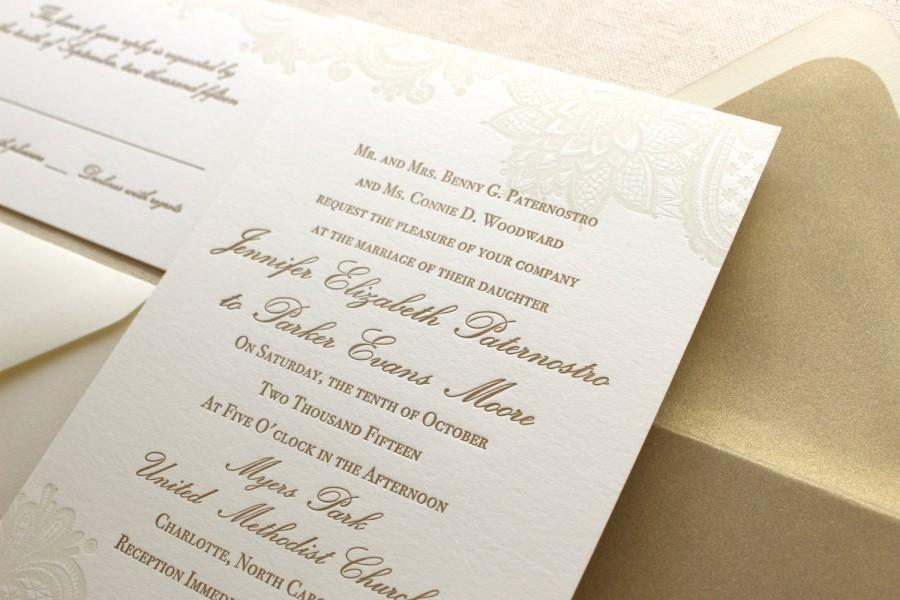 The Vintage Floral Lace Suite - Formal Letterpress Wedding ...