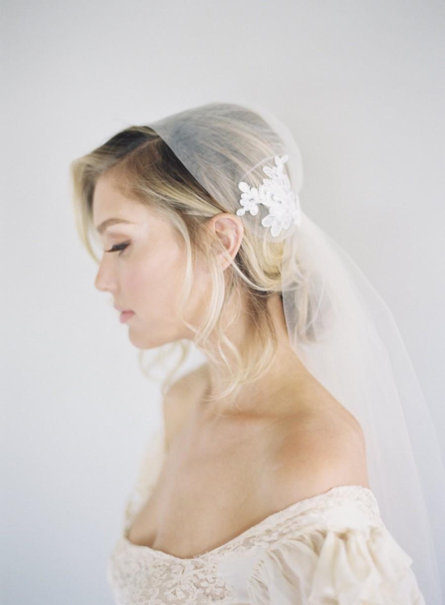 Mariage - Lace Veil, Juliet Cap Veil, Bridal Veil, Alencon Lace Veil, Art Deco Veil, Downton Abbey Veil, Bohemian Veil, Vintage Veil, 1920s Veil, 1641