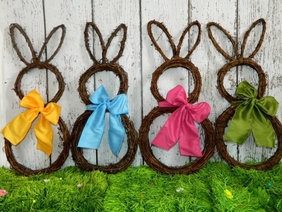 Wedding - Original Bunny Wreath - Spring Wreath  - Easter Decoration - Large or Mini Bunny Wreath- Quick Ship