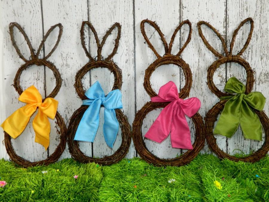 Düğün - Original Bunny Wreath - Spring Wreath  - Easter Decoration - Large or Mini Bunny Wreath- Quick Ship