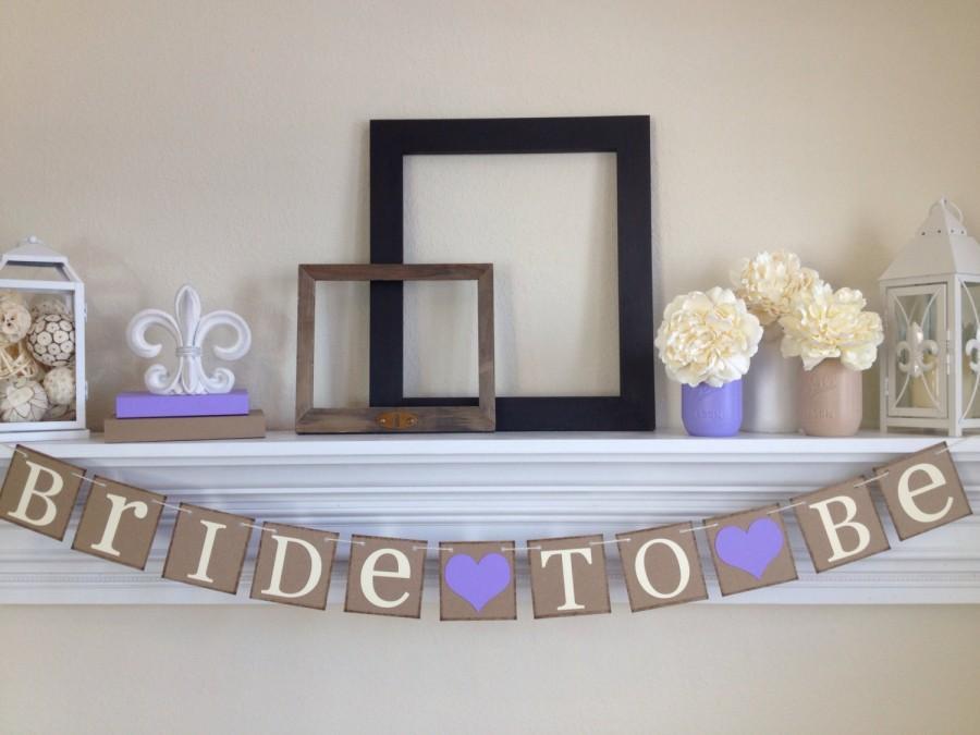 Свадьба - Bridal Shower Decorations - Bride To Be - Bridal Shower - Bachelorette Party - Bridal Signs - Wedding Signs, Lavender Bridal Shower Decor