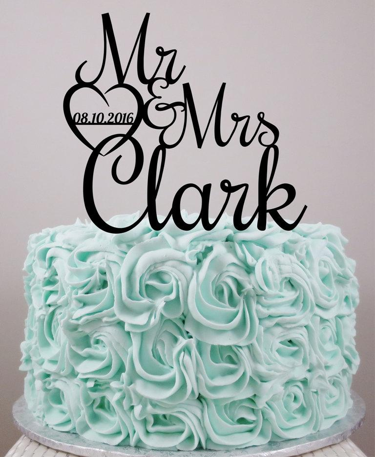 Hochzeit - Wedding Cake Topper, Personalized Cake Topper, Custom Cake Topper, Acrylic Cake Topper, Custom wedding cake topper, Wedding.