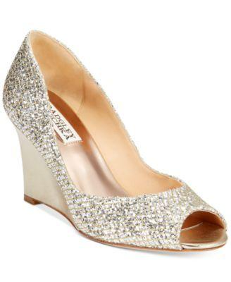 Hochzeit - Badgley Mischka Awake Evening Wedge Pumps
