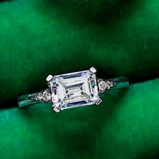 Wedding - Emerald Cut Diamond Rings
