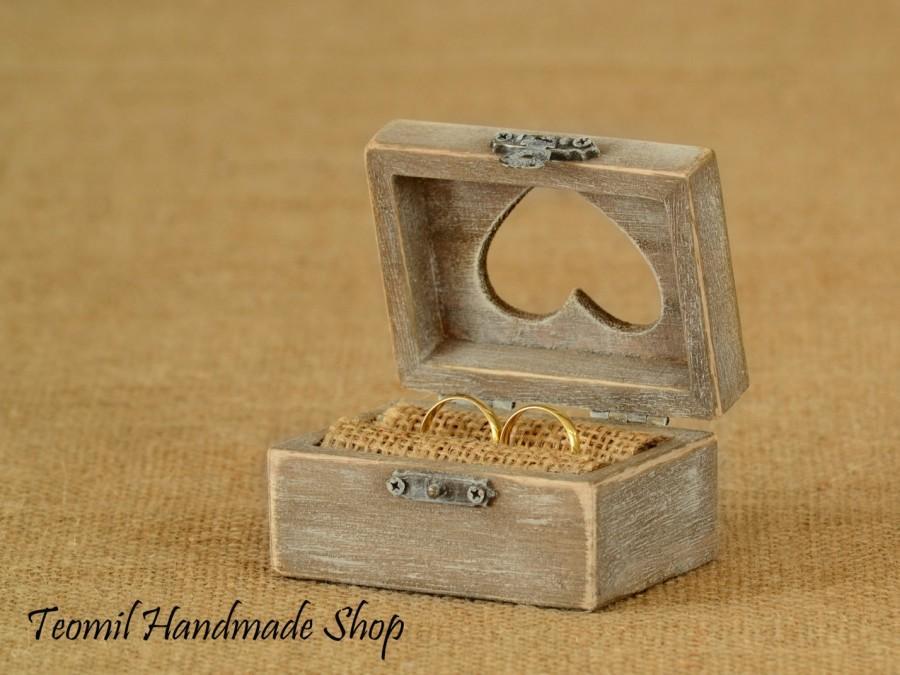 Mariage - Wedding Ring Box, Ring Bearer Box, Wedding Ring Pillow, Wedding Ring Holder, Engagement Ring Box, Proposal Ring Box, Shabby Chic