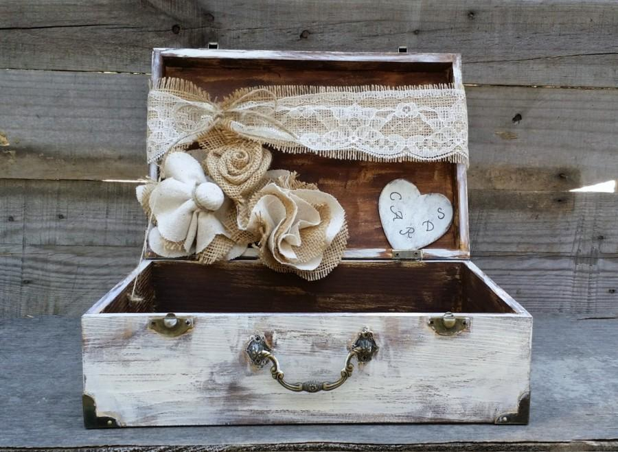 Свадьба - Rustic Wedding Card Box, Personalized Box, Shabby Chic Box, Baby Shower Decor, Rustic Wedding Decor